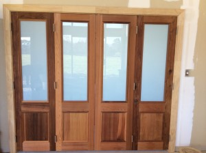 Cedar doors after applying CO Natural Wood Oil