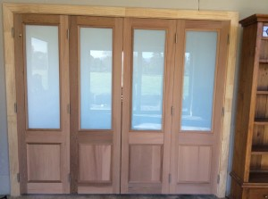 Cedar doors before applying CO Natural Wood Oil